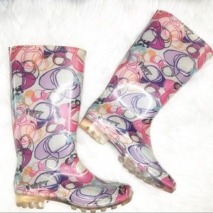 Coach Poppy Rain Boots Clear Bottom 8